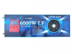 LF 6000W Pure Sine Wave Power Inverter DC 12V to AC 220V/230V/240V, with LCD display, 24000W Peak Power